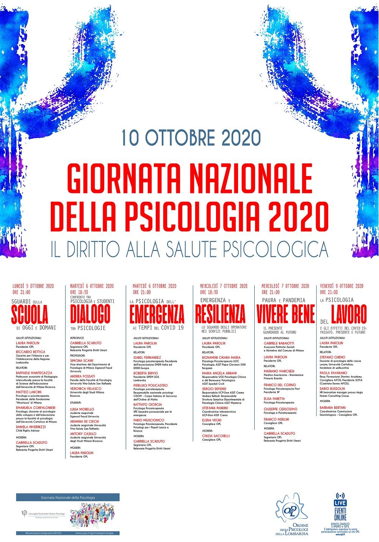Comunicato Stampa 10 Ottobre 2020 Giornata Nazionale Della Psicologia La Salute Psicologica E Un Diritto News Opl Ordine Psicologi Lombardia